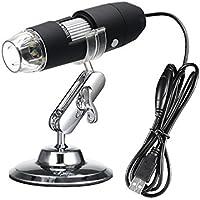USB Microscope, KKmoon 8 LED 1000X Microscope OTG Zoom Numérique Endoscope Fonction Loupe de Lumière avec Support Réglable à 360 ° en Métal
