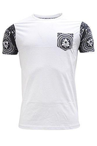 Brave Soul Herren T-Shirt weiß weiß Weiß