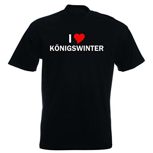 T-Shirt mit Städtenamen - i Love Königswinter - Herren - unisex Schwarz