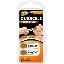 Batterie pour prothèse auditive Duracell PR41 6 unités sous blister, 1,4V, Zink-Luft [ Batterie de prothèse auditive ]