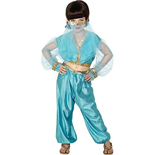 Arabische Prinzessin Kostüm Bauchtänzerin Kinderkostüm blau L 10-12 Jahre 158cm Kinderfaschingskostüm Orient (Kostüme Arabischen Prinzessin Blau)