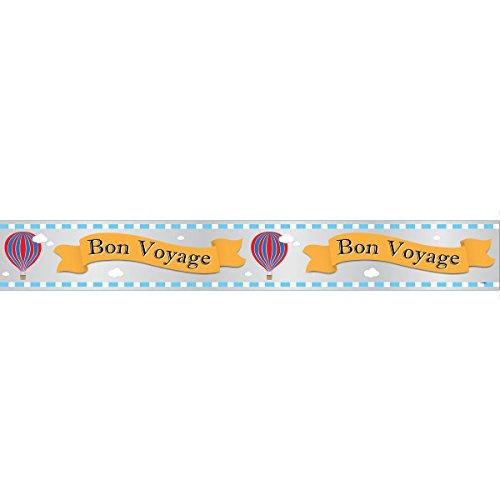 Unique Party 92179lf 12ft Folie Hot Air Bon Voyage Banner
