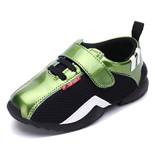 Jungen Mesh Schnürsenkel Laufschuhe Sportliche Schuhe Grün Kinder Atmungsaktive Glattleder Hohl Funktionelle Gitter FAqx7nRUFr
