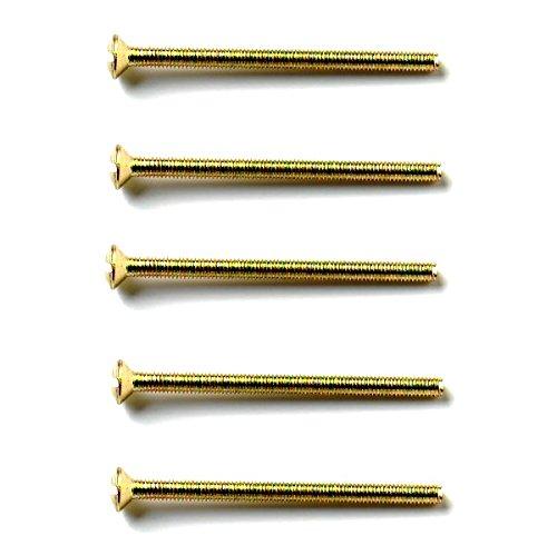Bulk Hardware BH03953 M3,5 x 75 mm Galvanisch vermessingte Schraube für elektrische Steckdose, Weiß, 20 Stück