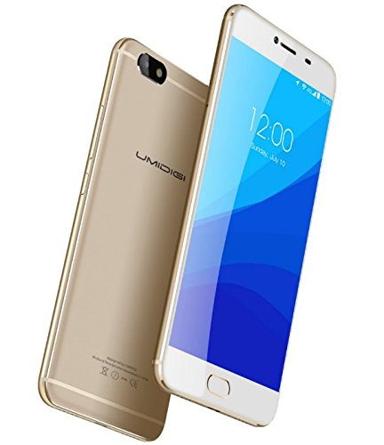 UMIDIGI C NOTE - Android 7.0 5.5 Zoll 4G Smartphone 1.5GHz Quad Core 3GB RAM 32GB Ultra-Slim 8.4mm Metall Unibody 3800mAh Batterie - Gold