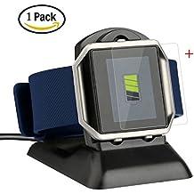 YaFex Fitbit Blaze Cargador,Muelle de Carga Soporte de Carga Cargador de Cuna con Cable de Carga USB para Fitbit Blaze Smart Fitness Watch - N