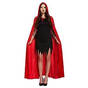 Deguisement-discount - Cape velours rouge avec capuche