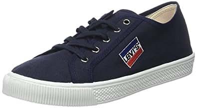 Levi's Herren Malibu Sneaker, Schwarz (Noir Regular Black), 45 EU