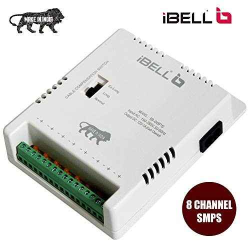 iBELL CP808 8 Channel Power Supply for CCTV Surveillance Output 12V