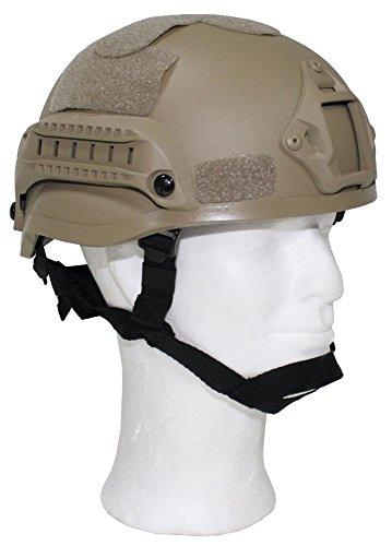 "US Helm ""MICH 2002"" Rails, coyote tan, ABS-Kunststoff"