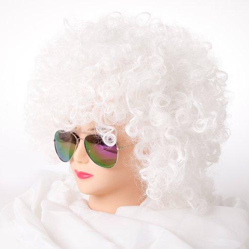 Cabaret Perücken Bob Afro Perücke Karneval Fasching Kostüm Chique Babe Locken (Afro ()