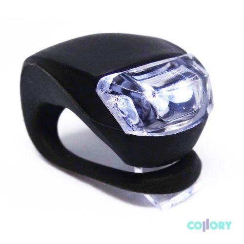 Preisvergleich Produktbild Collory  Mobile LED Silikonleuchte, einfache Montage (Clip-On), Kinderwagenbeleuchtung, Sicherheitslicht, Blinklicht, weißes Licht