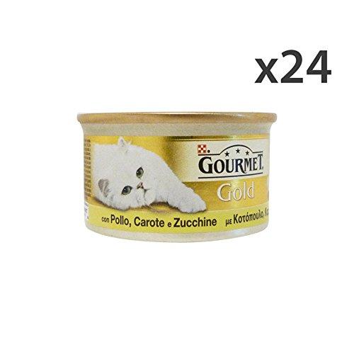Set 24 GOURMET Gold patè pollo/carote/zucchine 85 gr. - La comida par