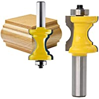 godbless Router puntas Media Varilla Fresa con rodamientos Cutter cortador de madera para graviermaschine trimmmasc Hine