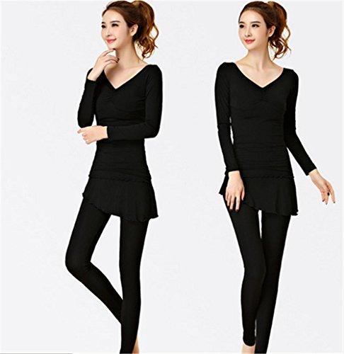 peiwen Weibliche Schwarze Winter Yoga-Kleidung/Set, m, Long