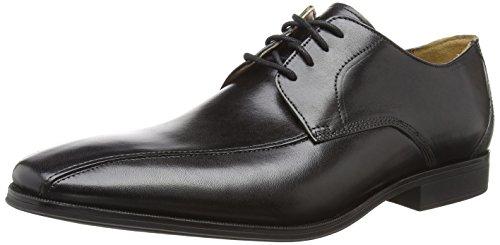 Clarks Gilman Mode, Zapatos de Cordones Derby para Hombre, Negro (Black Leather), 43 EU