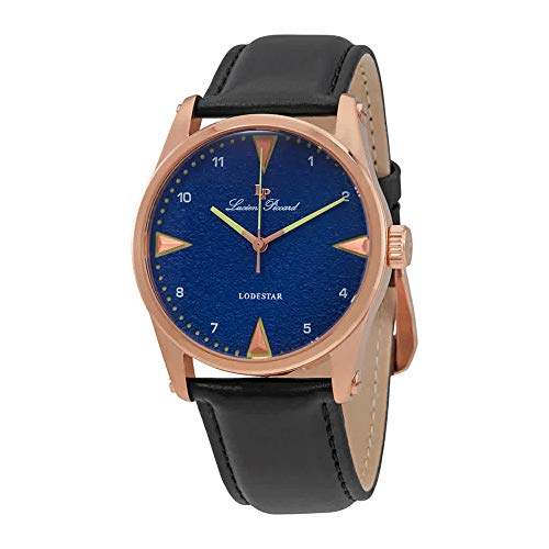 Lucien Piccard Blue Dial Black Leather Mens Watch 40035-RG-03