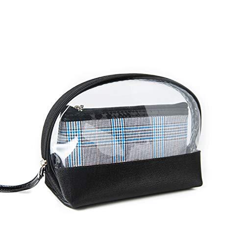 Toruiwa. Kit de Trousse de Toilette Transparente Sac de Rangement Maquillage avec Fermeture à Glisser Imperméable en PVC pour Gymnastiquem Voyage Sport 25cm*20cm*3cm