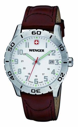 Wenger 01.0741.101 - Reloj de pulsera hombre, piel, color marrón