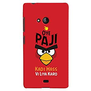 ColourCrust Microsoft Lumia 540 Mobile Phone Back Cover With Quirky Punjabi Slangs - Durable Matte Finish Hard Plastic Slim Case