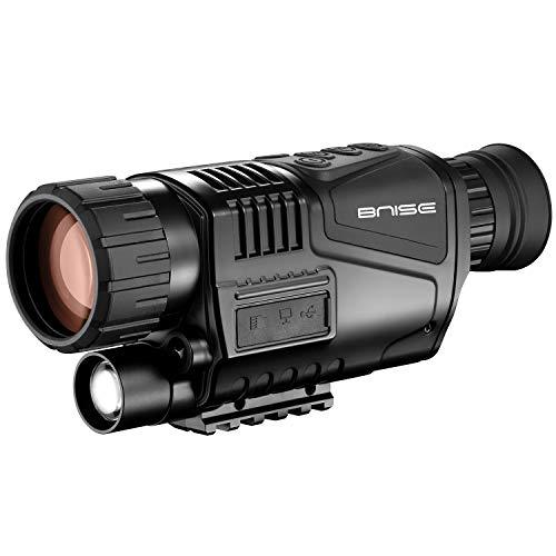 Monocular infrarrojo de visión nocturna en HD de 8x40 con cámara digital; reproducción de video; salida USB; para caza y vida silvestre. Distancia de visión de 100 m en la oscuridad; tarjeta TF de 8G.