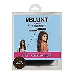 BBlunt B Hive Volume on Crown Clip on Hair Extension, Light Brown