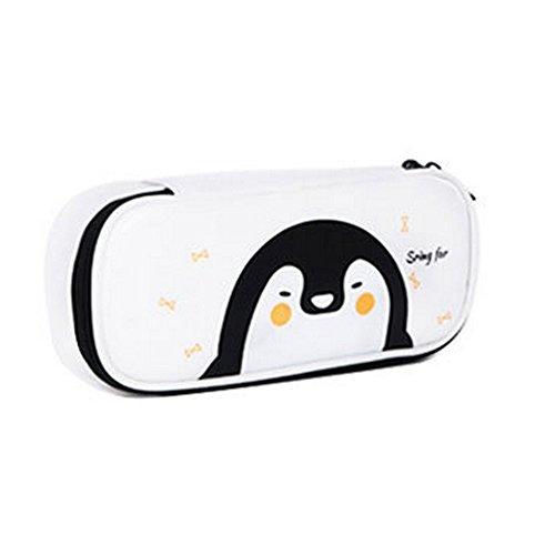 0d218974edf aloiness White Penguin Make Up Bag Organiser Large Capacity Pencil Case Office  Pen Holder Organizer Stationary