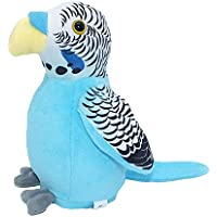 FunBlast Cute Talking Parrot Soft Toy for Kids Talk Back Parrot Plush Toys for Babies Realistic Toys for Girls|Boys Battery Operated Musical Toys (Blue Parrot- Hanging)
