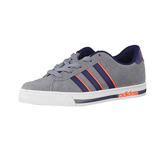 adidas NEO Kinder Sneaker Daily Team K Grey/Collegiate Navy/Solar Orange