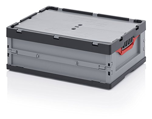 Preisvergleich Produktbild Profi-Faltbox 60 x 40 x 22 mit Deckel inkl. gratis Zollstock