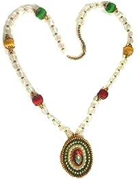 Beautiful Long Multi Colour Necklace Set