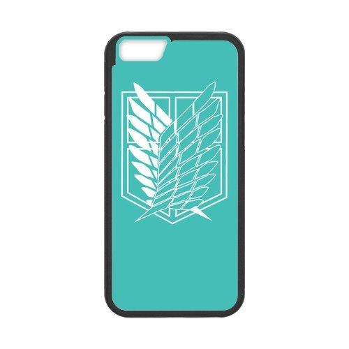 """iPhone 6S Étui, Attack on Titan Series Étui pour Apple iPhone 6(4,7""""inch) Case Cover Coque en silicone skin Housse Coque Shell de protection pour iPhone 66S (4.7inch)"""