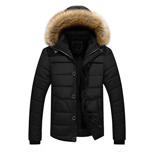 Preisvergleich Produktbild Kobay Herren Männer Draussen Warmer Winter Dicke Jacke plus Fell Kapuze Mantel Jacke