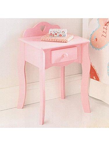 Amelia Shabby Chic Rosa Herz Kinder Nachttisch Schublade Einfache Montage