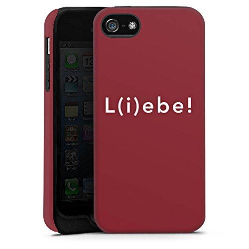 Apple iPhone X Silikon Hülle Case Schutzhülle Sprüche Liebe Lebe Tough Case matt