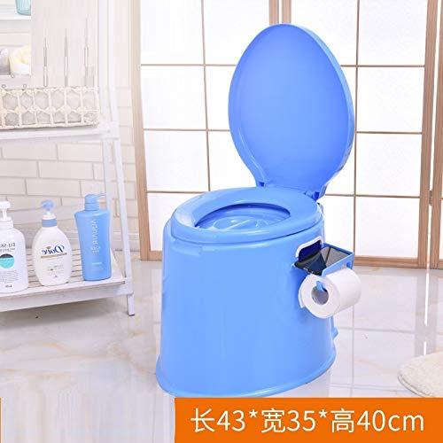 WEII Bewegliche Bewegliche Toilette Der Beweglichen Toilette Rutschfeste Starke Plastiktoilette Ältere Schwangere Mehrzwecktoilette,Blau,Einheitsgröße