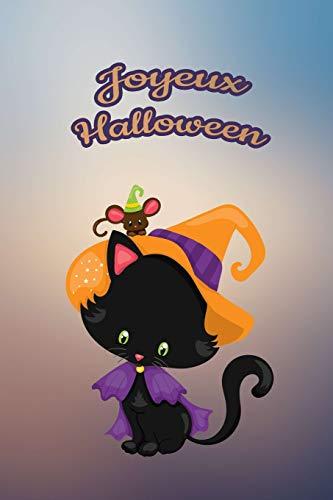 Joyeux Halloween: Pour nos petits : Petit carnet de notes de 121 pages blanches avec couverture et pages sur le thème d'Halloween (Mon petit journal d'Halloween, Band 24)