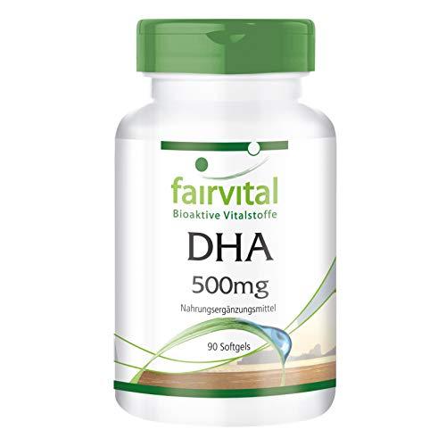 DHA 500mg - GROSSPACKUNG HOCHDOSIERT - 90 Softgels - Docosahexaensäure und Eicosapentaensäure