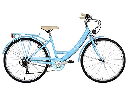 KS Cycling Damen Damenfahrrad 26\'\' Toscana blau RH41cm Cityrad,