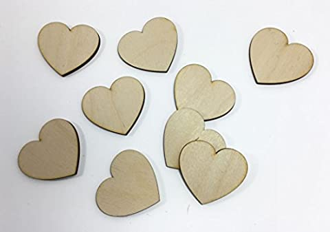 30mm Eco Friendly Heart Shapes Birch Ply Wooden Blank Craft
