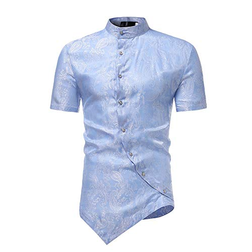 Used, MIRRAY Irregular Men Dress Shirts Button Summer Tee for sale  Delivered anywhere in UK