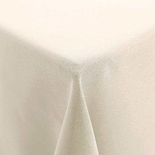 Deconovo Tischdecke Wasserdicht Tischwäsche Lotuseffekt Tischtücher 150x200 cm Creme