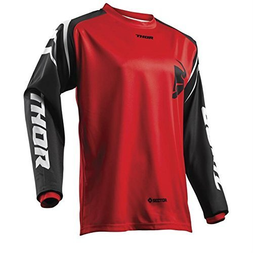 Thor SECTOR YOUTH Motocross Kinder Jersey 2018 - rot -