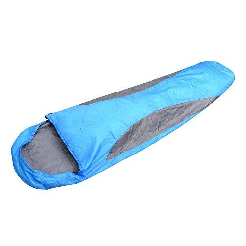 Outsunny Erwachsene Mumienschlafsack für Camping Schlafsack, Blau, L
