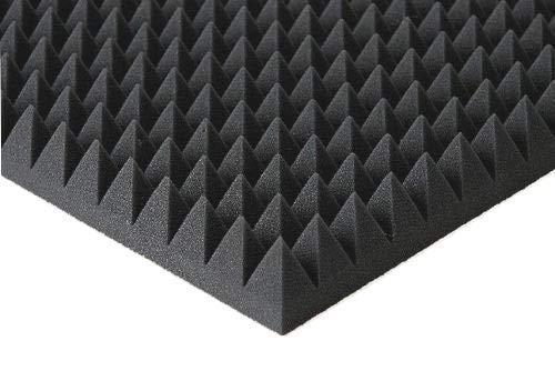 Pyramiden -Schaumstoff SELBSTKLEBEND- Flammhemend MVSS302 Schallschutz-Schaumstoff Noppenschaum (Ohne Selbstklebend, ca. 100x100x5cm)