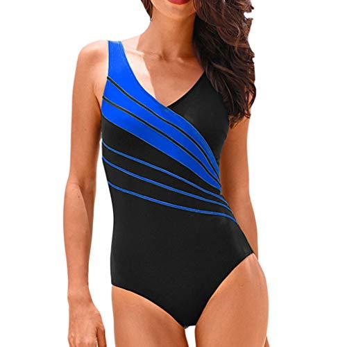 c7be7f05bdc144 Asalinao Damen Sport Multi-Color-Nähte große Badeanzug Monokini  Strandbekleidung