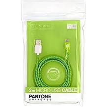 Case Scenario-Pantone tessuto-Cavo Lightning per iPhone 5/5S/5C/6/6 Plus, iPod Nano di 6a generazione e 7a generazione, iPad Air, 1/2, 1/3, iPad Mini, colore: verde