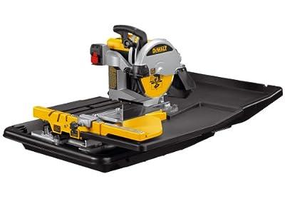 DeWalt D24000L 110V Wet Tile Saw with Slide Table