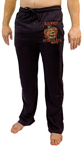 "Five Nights at Freddy's ""I Survived"" Men's Lounge Pants: Large"