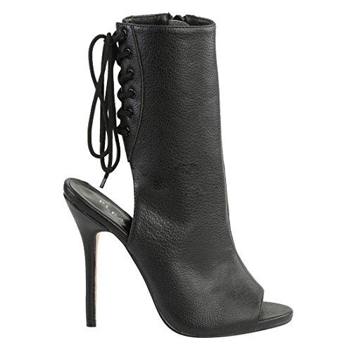 Pleaser, Damen Stiefel & Stiefeletten Blk Faux Leather